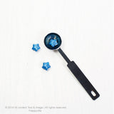 Shimmer Blue Star shape Wax button