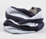soft scarf , cotton knit scarf, men's scarf, striped scarf, unisex