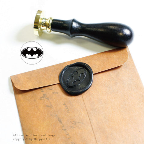 Batman superhero seal wax stamp