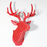Puzzle Deer Head Home decor