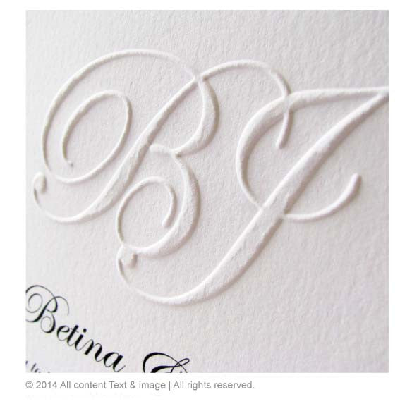Initial Embossing seal stamp, custom embossing seal