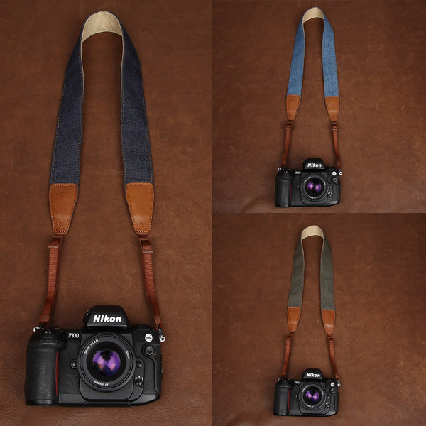 Classic Blue Denim/Camera Neck Strap,leather Universal Camera Shoulder Neck Strap, DSLR SLR