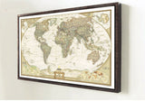 Vintage Retro Matte Kraft Paper World Map Antique Poster Wall Sticker Home Decora 72.5*47.5CM
