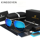 KINGSEVEN Classic Fashion Polarized Sunglasses Men/Women Colorful Reflective Coating Lens Eyewear Accessories Sun Glasses 3026