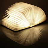 Wood Turning books Nightlight USB rechargeable LED folding lamp book creative fashion gift table lamp