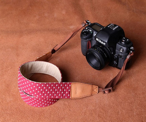 Camera Neck strap, Fabric neck strap, cross star pattern