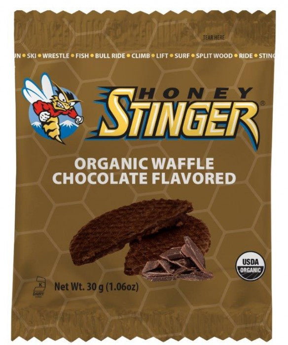 Organic Stinger Waffles: Chocolate, 16 ct box