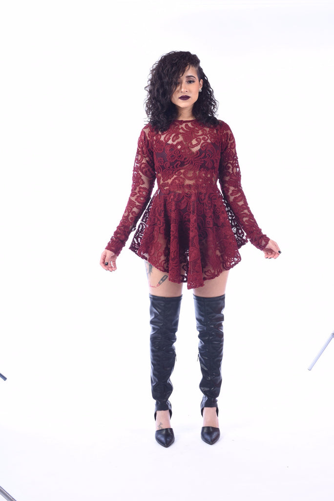 """Laced In Lace"" Rockstar Dress"