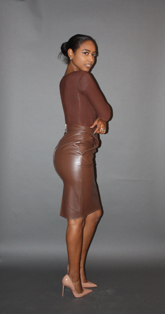 Bev Leather Skirt