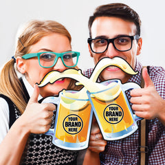 Custom Two-Person Cheerstache Photo Prop