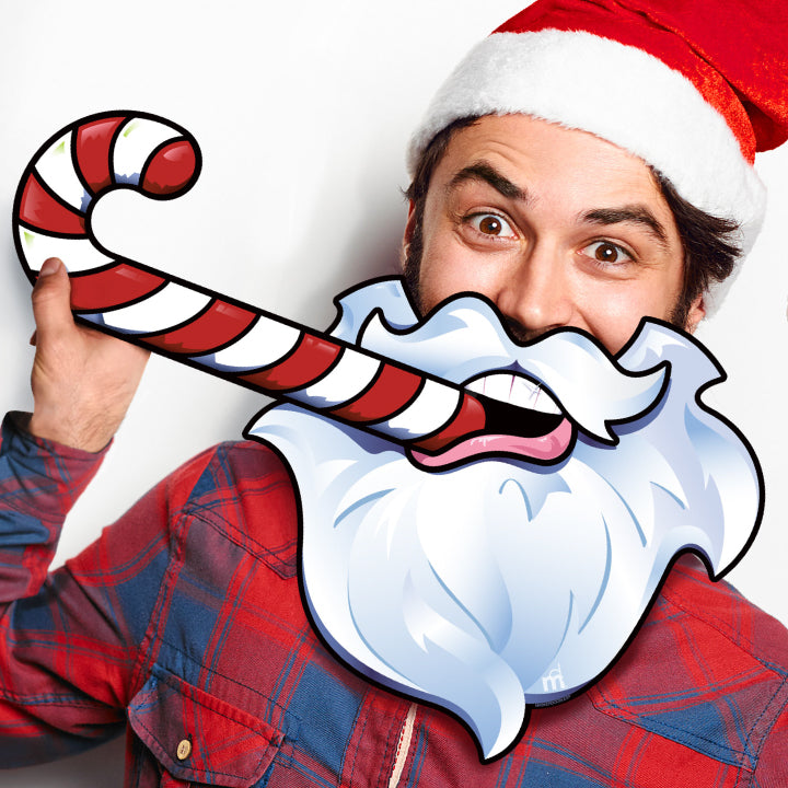 Holiday Beard Photo Prop