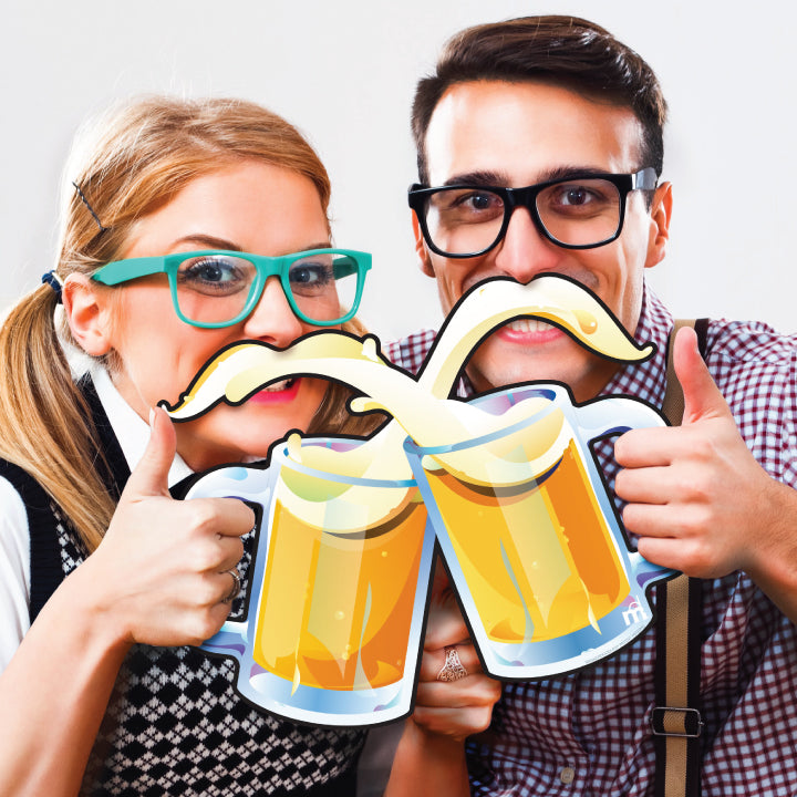 Oktoberfest Two-Person Cheerstache Photo Prop