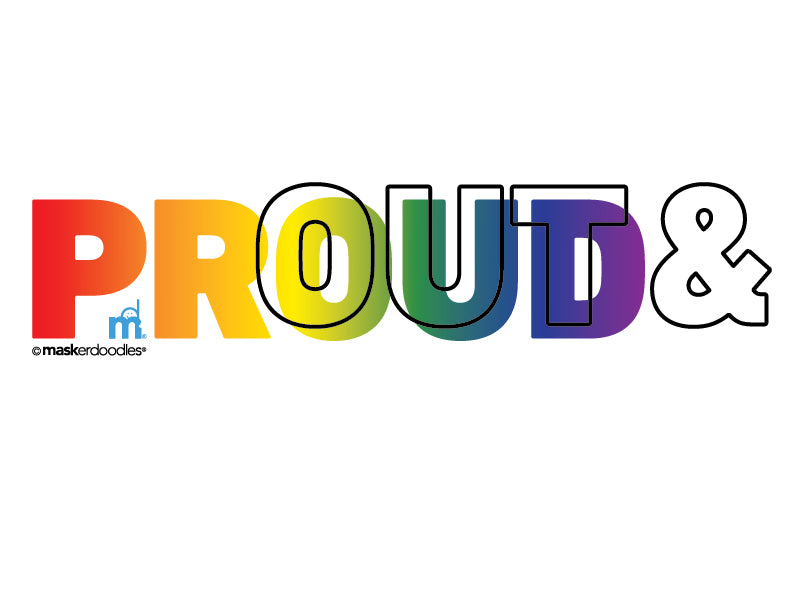 PRIDE Out & Proud Horizontal T-shirt