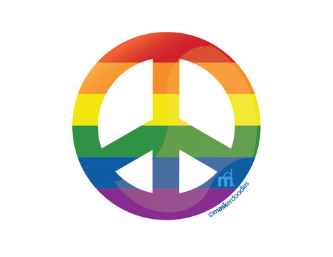 PRIDE Rainbow Pocket Peace T-shirt