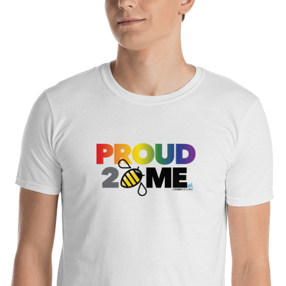 PRIDE Proud 2 Bee Me Stacked T