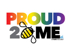 PRIDE Proud 2 Bee Me Stacked T-shirt