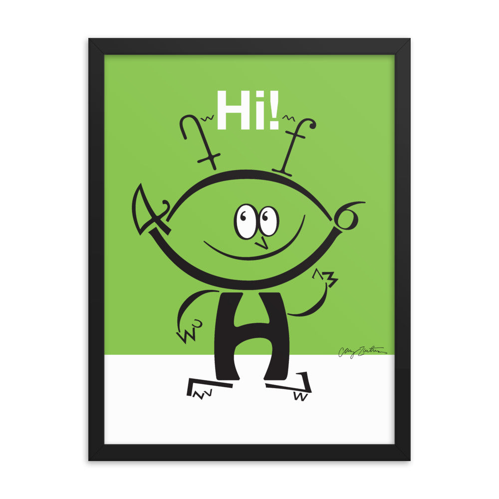 Alfie the Alien Framed Poster