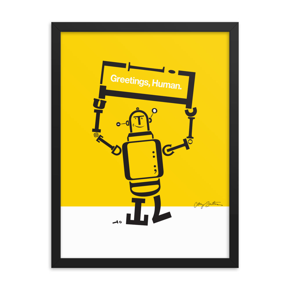 Ruben the Robot Framed Poster