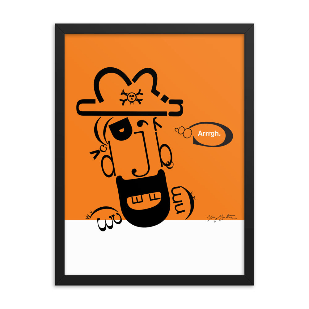 Pete the Pirate Framed Poster