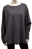 Bamboo French Terry Shirttail Sweatshirt