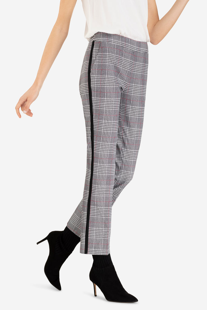 Patterned Pull on Ankle Pant