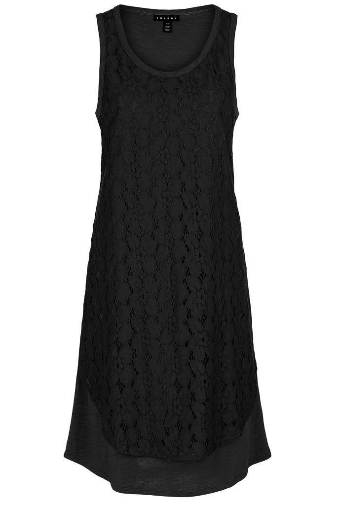 Dress with Lace Layer