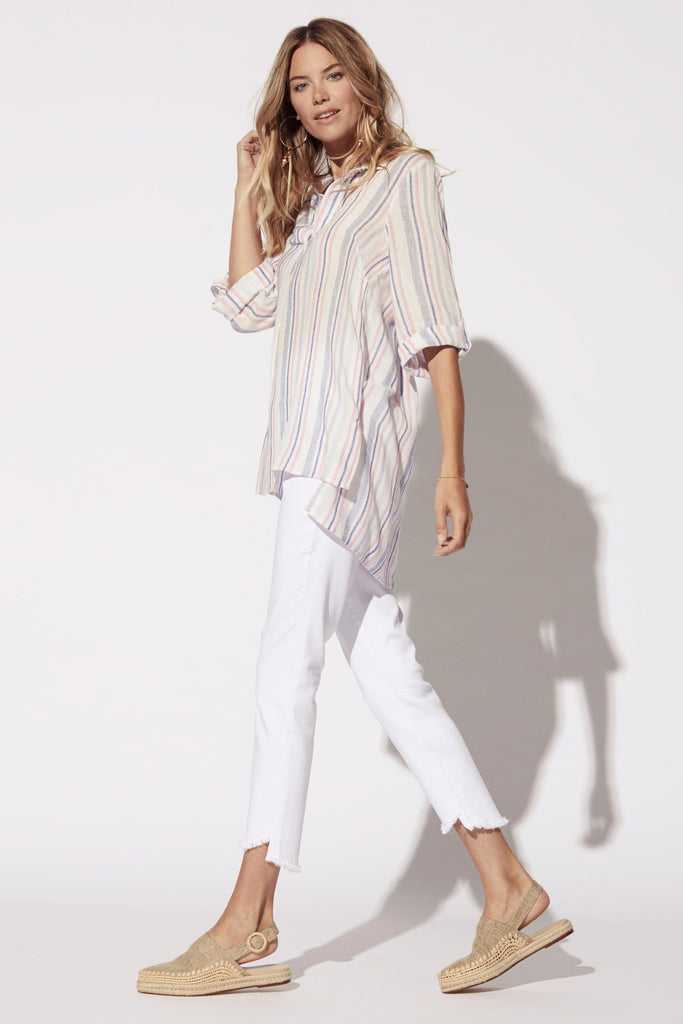 Roll Up Sleeve Popover Tunic