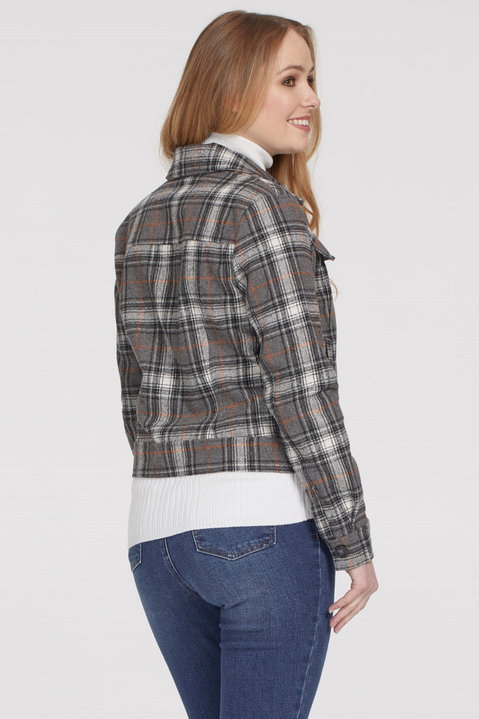 Cropped Checked Jacket