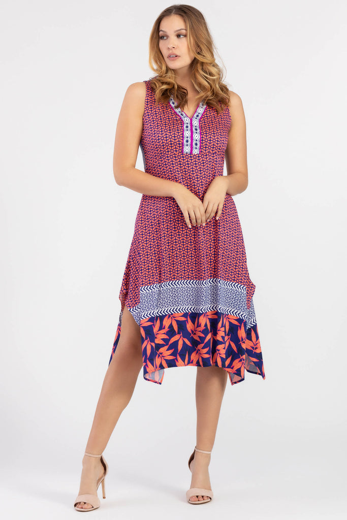 Hankerchief Hem Midi Dress