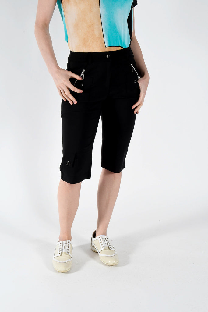 Skinnyliscious  Fly Front Knee Capri