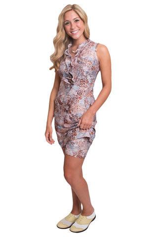 Pinpoint Sleeveless Dress