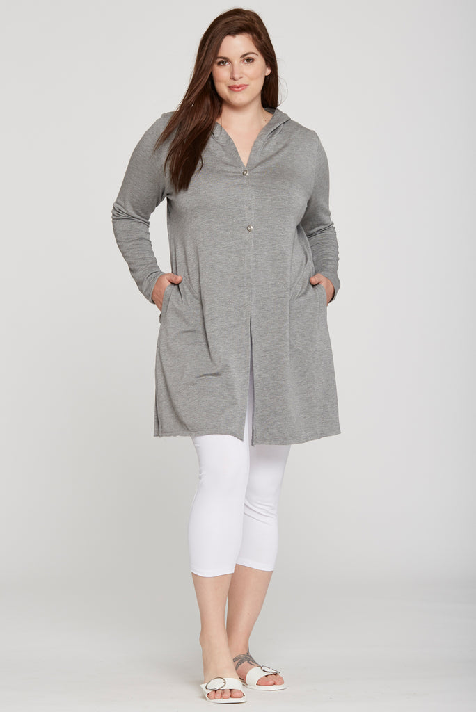 JJ259 Hooded Zip Tunic