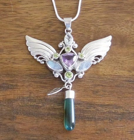 Archangel Aria Pendant with Sterling Silver Chain