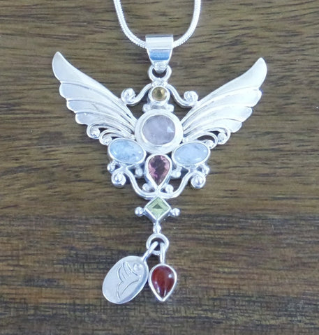 Archangel Ariel Pendant with Sterling Silver Chain