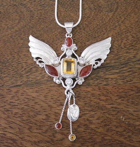 Archangel Gabriel Pendant with Sterling Silver Chain