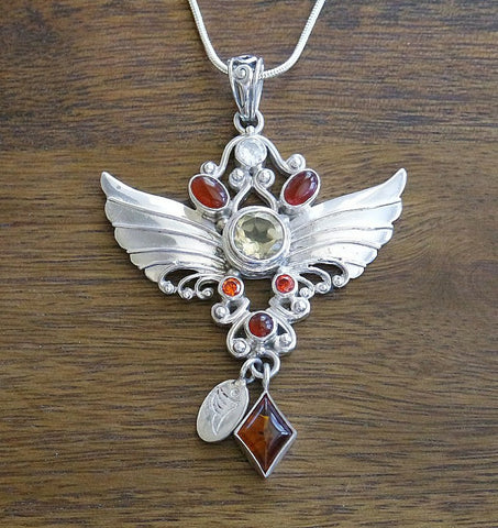 Archangel Metatron Pendant with Sterling Silver Chain