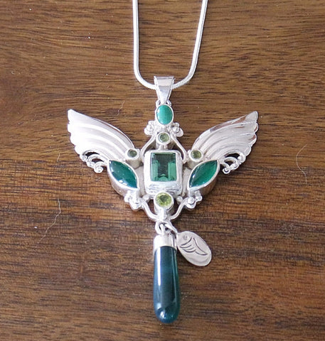 Archangel Raphael Pendant with Sterling Silver Chain
