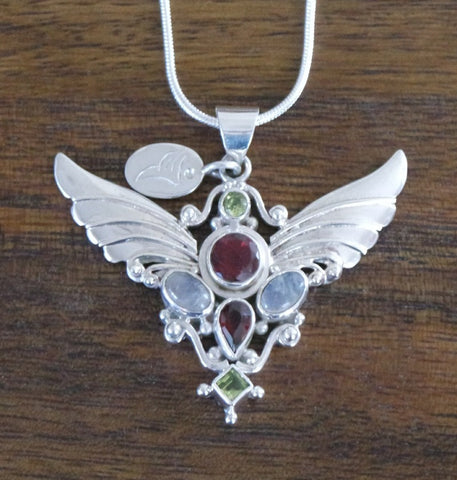 Archangel Serafin Pendant with Sterling Silver Chain