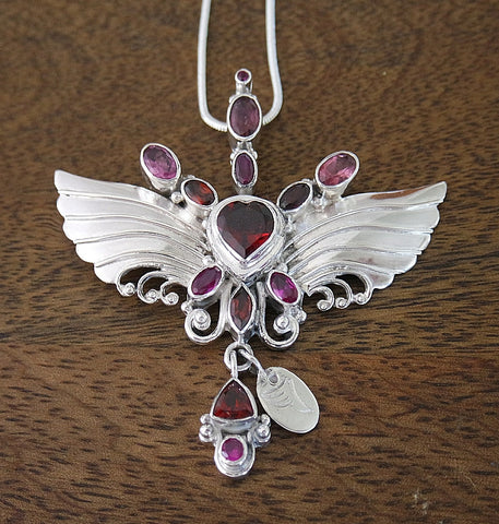 Archangel Uriel Pendant with Sterling Silver Chain