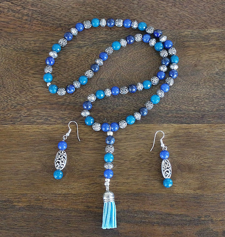 'Bali Dreams' Prayer Mala and Earrings Set