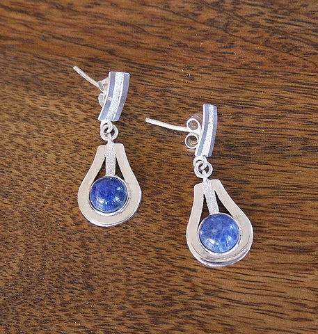 'Gift of Peace' Sodalite & Sterling Silver Earrings