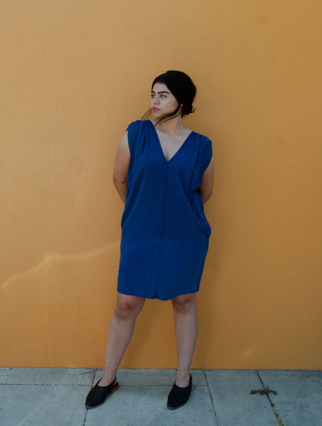 The Odells shoulder pleat dress - Summer Sun shoot - Dandelion Post