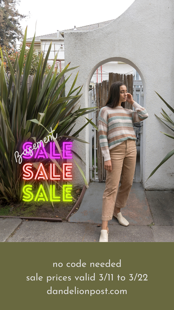 Dandelion Post end-of-season sale up to 70% off