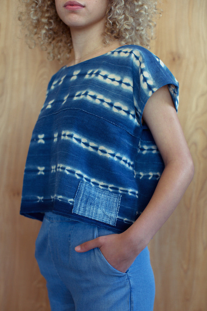 Indigo Shibori Box Top