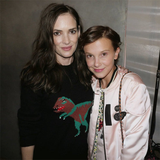 Winona Ryder - Dinosaur Top - Millie Bobby Brown - Stranger Things