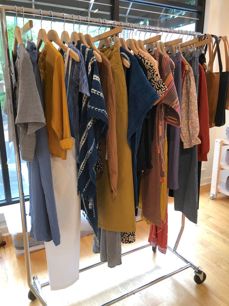 Clothing rack pop-up events