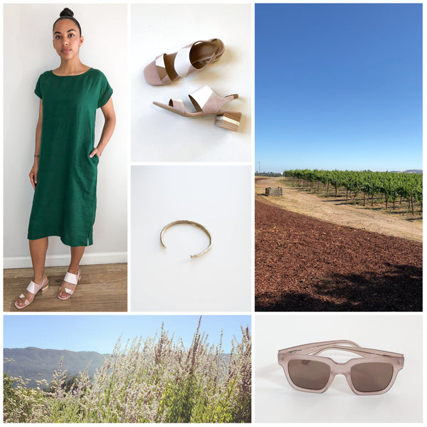 Sonoma and Napa fashion collage