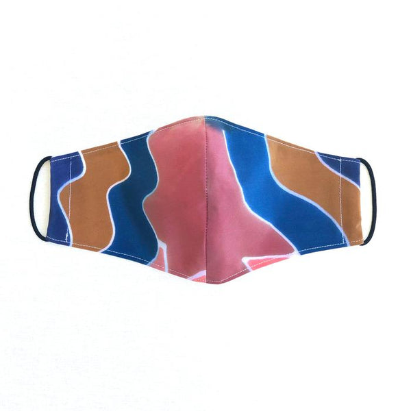 3rd Season double lined cloth face masks - hand dyed silk pattern