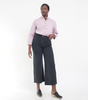 Loup NYC Toni black cotton twill wide leg pants