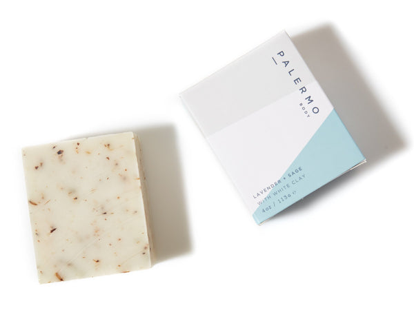Palermo lavender and sage natural soap bar